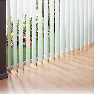 Store à bandes verticales sur mesure - Lames larg. 127 mm - Tissu polyester occultant - Coloris blanc