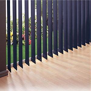 Store à bandes verticales sur mesure - Lames larg. 127 mm -  Tissu polyester occultant - Coloris bleu