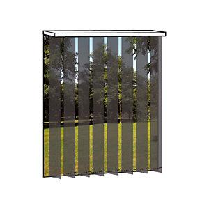 Store à bandes verticales sur mesure - Lames larg. 127 mm - Tissu polyester tamisant - Coloris gris anthracite