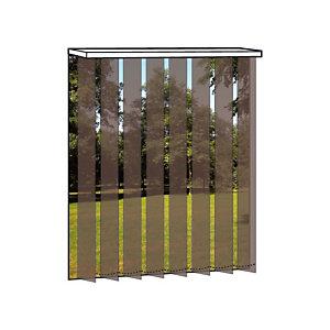 Store à bandes verticales sur mesure - Lames larg. 127 mm - Tissu screen anti-chaleur - Coloris chocolat