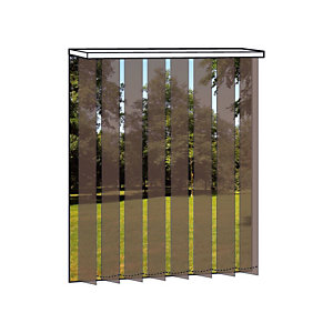 Store à bandes verticales sur mesure - Lames larg. 127 mm - Tissu trevira cs tamisant - Coloris bronze