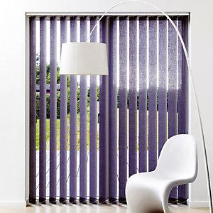 Store à bandes verticales sur mesure, lames largeur 127 mm en  polyester tamisant coloris gris anthracite