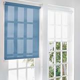 Store à enrouleur sur mesure tissu coloris bleu
