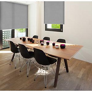 Store enrouleur sur mesure - tissu polyester occultant - coloris gris aluminium