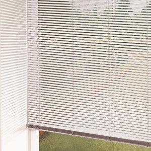 Store vénitien lamelles 25mm coloris blanc
