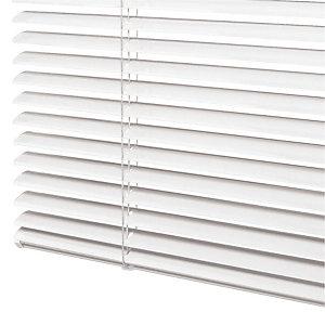 Store vénitien sur mesure - lames aluminium larg. 25 mm - Coloris blanc