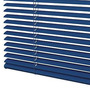 Store vénitien sur mesure - Lames aluminium larg. 25 mm - Coloris bleu foncé