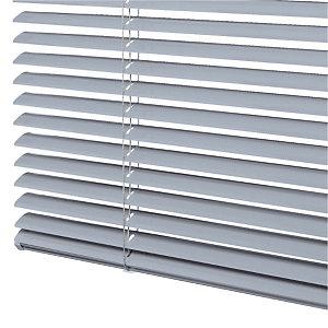 Store vénitien sur mesure - Lames aluminium larg. 25 mm - Coloris gris aluminium