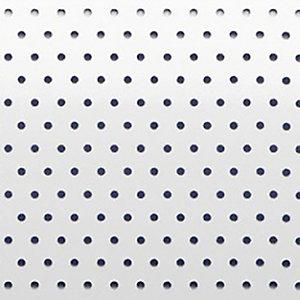 Store vénitien micro perforé sur mesure - Lames aluminium larg. 25 mm - Coloris blanc