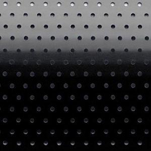 Store vénitien micro perforé sur mesure - Lames aluminium larg. 25 mm - Coloris noir