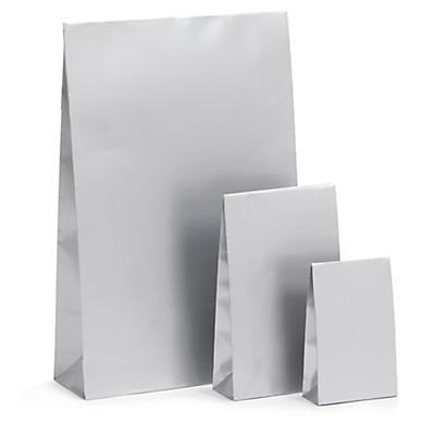 Stříbrné dárkové sáčky se samolepicím uzávěrem