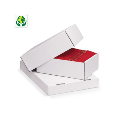 Stülpdeckelkartons weiß