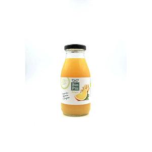 Succo BIO PIU', Gusto Arancia e Zenzero, Bottiglia da 225 ml (confezione 6 bottiglie)