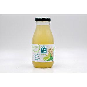 Succo BIO PIU', Gusto Lime e Zenzero, Bottiglia da 225 ml (confezione 6 bottiglie)
