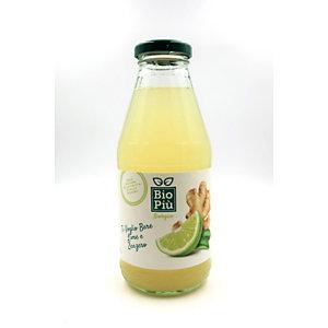 Succo BIO PIU', Gusto Lime e Zenzero, Bottiglia da 500 ml (confezione 6 bottiglie)
