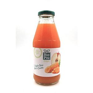 Succo BIO PIU', Gusto Mela e Carota, Bottiglia da 500 ml (confezione 6 bottiglie)