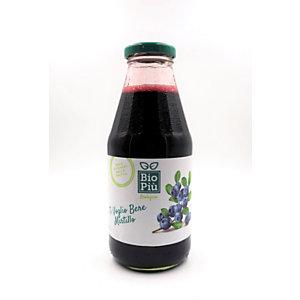Succo BIO PIU', Gusto Mirtillo, Bottiglia da 500 ml (confezione 6 bottiglie)
