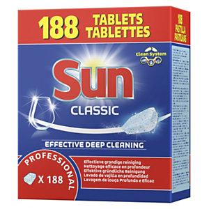 Sun Sun Classique, tablettes de lavage lave-vaisselle cycle court - Baril de 188 pastilles
