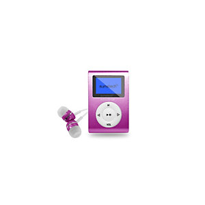 Sunstech DEDALOIII, Reproductor de MP3, 4 GB, USB 2.0, Radio FM, 20 g, Rosa DEDALOIII4GBPK