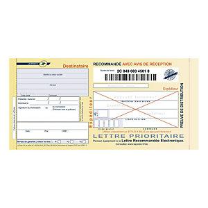 Support recommandé guichet France - Boite de 100
