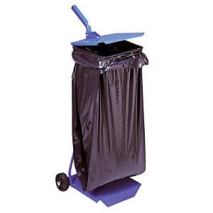 Support sac à couvercle et roulettes 110 L