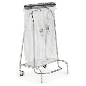 Support-sac mobile à clapet 110 litres