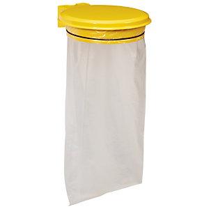 Support sac mural Rossignol 110 L coloris jaune avec couvercle