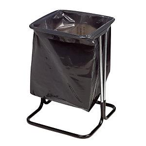Support sac sur pieds 50 L coloris noir