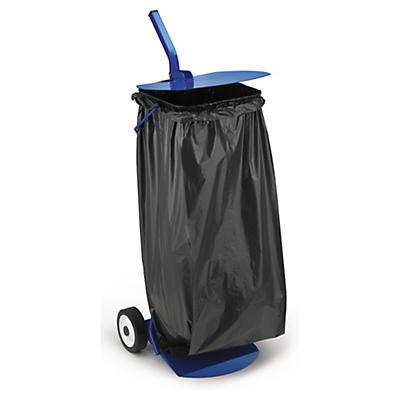 Support sac poubelle mobile avec couvercle 110 L