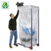 Support sac poubelle mobile grand volume 100, 1500 et 2500 litres