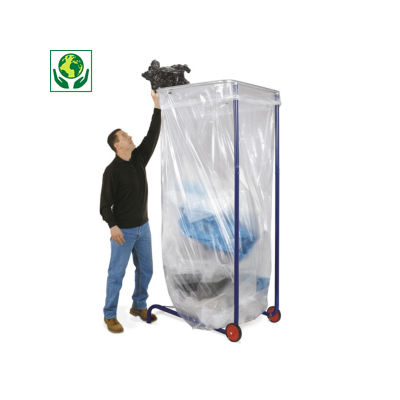 Support sac poubelle mobile grand volume 100, 1500 et 2500 litres