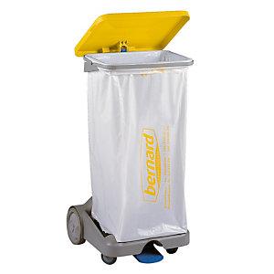 Support sac à rétention HACCP 110 L jaune