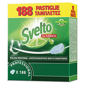 Svelto Detersivo in pastiglie per lavastoviglie, 188 pastiglie