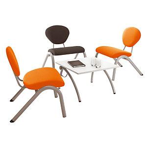 Table basse - Lisa - plateau Gris clair - pieds Gris - 60 x 60 cm