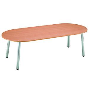 Table direction - CONGRES - Ovale -  Hêtre - pieds Gris Aluminium
