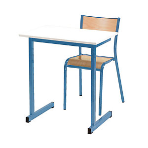 Table formation individuelle pieds bleus