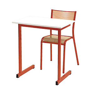 Table formation individuelle pieds rouges