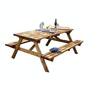 Table pique-nique 40 mm 6 places
