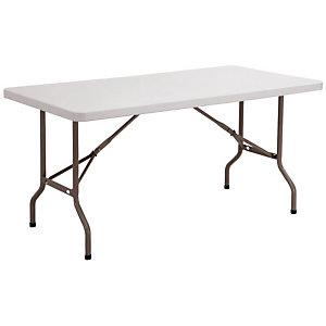 Table pliante polyéthylène rectangle 182 x 76 cm - Plateau gris - Pieds gris