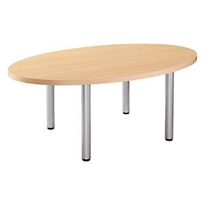 Table de réunion Consul, ovale L. 200 x P. 120 cm - Chêne