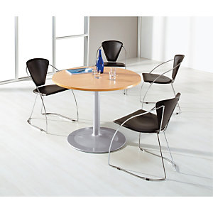 Table ronde Pure + 4 fauteuils Laura