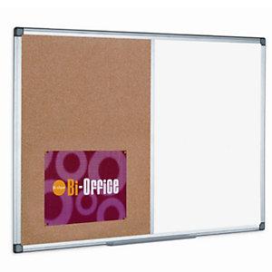 Tableau double-face Maya, surface en acier laqué magnétique et en liège, cadre en aluminium, 900x1200 mm