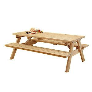 Tables pique-nique 6 places épaisseur 45 mm