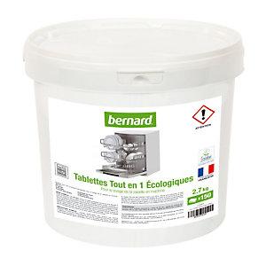 Tablettes de lavage écologiques lave-vaisselle cycle long Bernard tout en 1, 150 tablettes