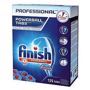 Tablettes de lavage lave-vaisselle cycle court Finish Calgonit Powerball, 125 tablettes