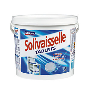 Tablettes de lavage lave-vaisselle cycle court Solivaisselle de Solipro, 160 tablettes