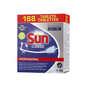 Tablettes de lavage lave-vaisselle cycle court Sun, 188 tablettes