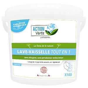 Tablettes lave vaisselle cycle long écologique Action Verte Tout en 1, seau de 160 tablettes