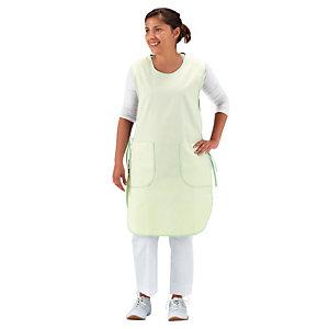 Tablier-chasuble femme polycoton vert anis taille unique