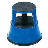 Tabouret marchepied métal bleu##Blauwe metalen opstapkruk